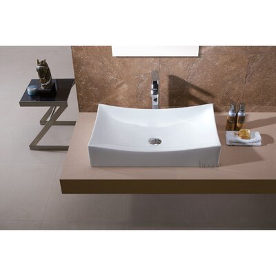 Bathroom Sinks Louisville Ky luxier l-001 bathroom porcelain ceramic rectangular vessel