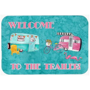 Welcome To The Trailer Kitchen/Bath Mat