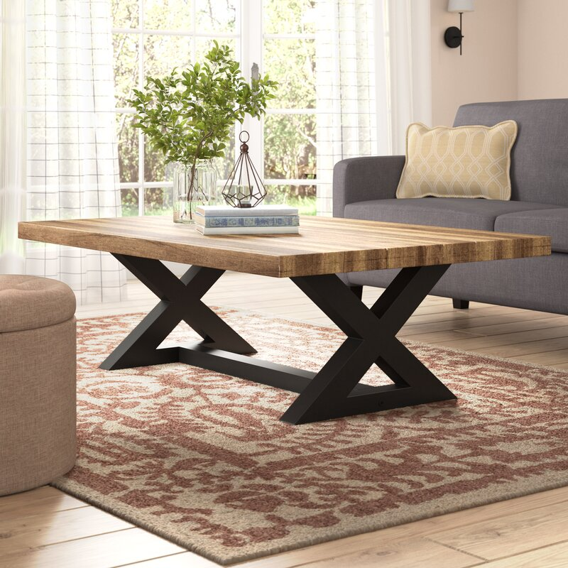 Modern Farmhouse Coffee Table: Laurel Foundry Modern Farmhouse Vivier Coffee Table