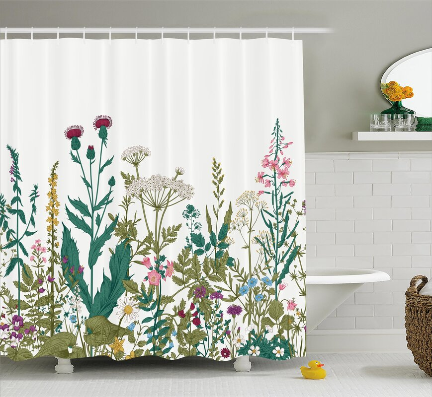 Great Leaves Shower Curtain Contemporary - Bathroom with Bathtub ...