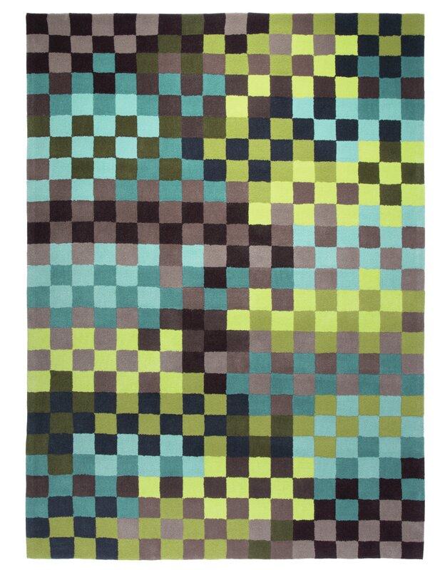 esprit handgetufteter teppich pixel in gr n blau bewertungen. Black Bedroom Furniture Sets. Home Design Ideas