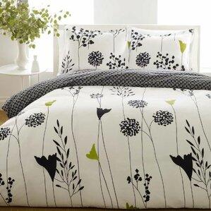 asian lily reversible duvet cover set - Queen Size Duvet Cover