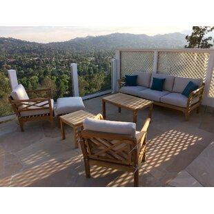 Malibu 6 Piece Teak Sofa Seating Group With Sunbrella Cushions