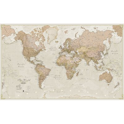 Wall murals youll love wayfair world antique 120 laminated map wall mural sciox Images