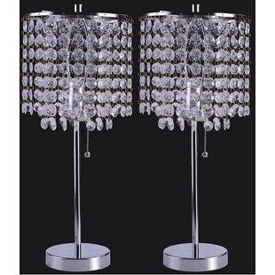 Georgina Crystal Inspired 19 Table Lamp Set Of 2