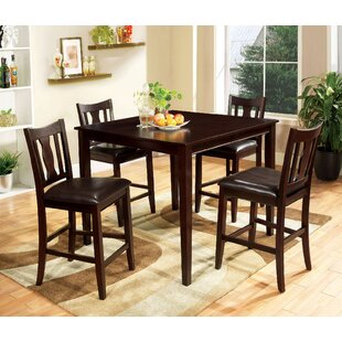 Crewellwalk 5 Piece Counter Height Dining Set