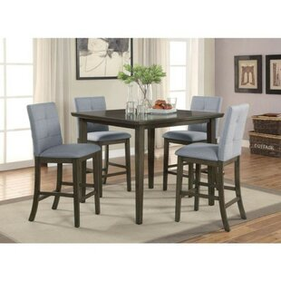 Mireille 5 Piece Solid Wood Dining Set