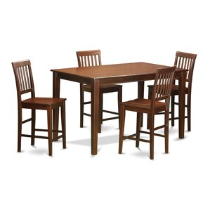 5 Piece Counter Height Dining Set by Wood..