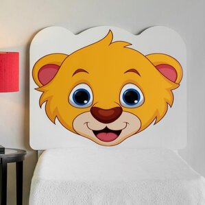 Rosetta Lion Cub Face Twin Panel Headboard by Zoomie Kids