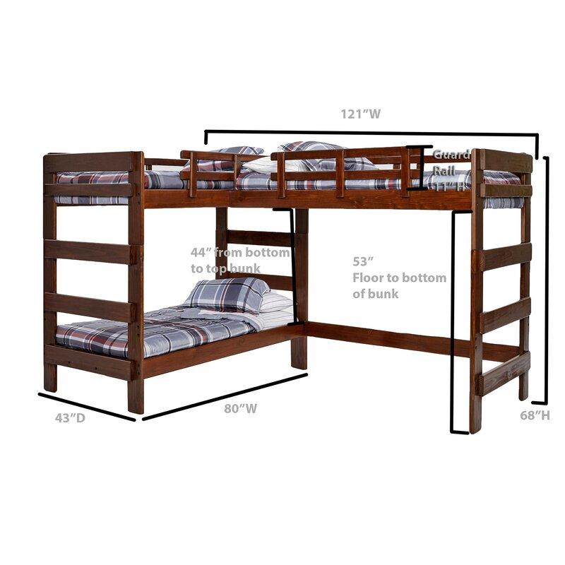 Viv Rae Deondre Twin L Shaped Triple Bunk Bed