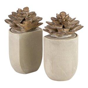 2-tlg. Buchstützen-Set Flower von Brick & Barr..