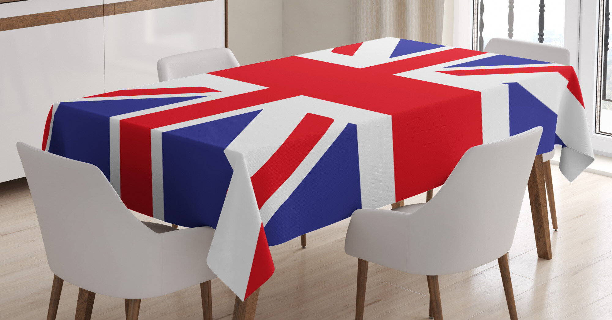 East Urban Home Union Jack Dining Room Kitchen Tablecloth