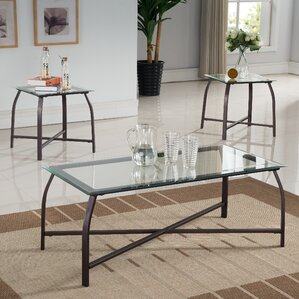 glass living room table set. Kassandra 3 Piece Coffee Table Set Glass Sets You ll Love  Wayfair
