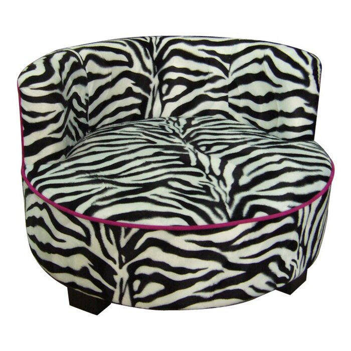 Superb Upholstered Zebra Print Round Dog Bed Squirreltailoven Fun Painted Chair Ideas Images Squirreltailovenorg