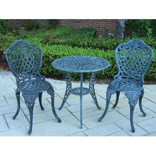 3 Piece Cast Iron Bistro Set Wayfair Ca