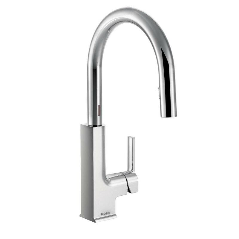 Moen sto pull down touchless single handle kitchen faucet reviews wayfair - Touchless kitchen faucet reviews ...