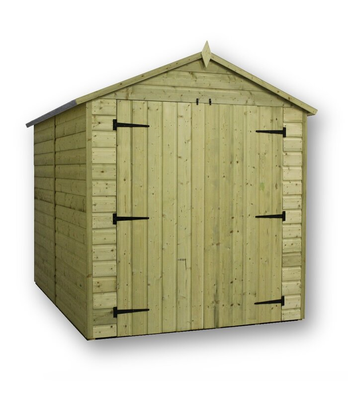 6 Ft. W X 12 Ft. D Wooden Storage Shed