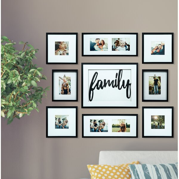 Darby Home Co Broderick 9 Piece Family Decor Picture Frame Set ...