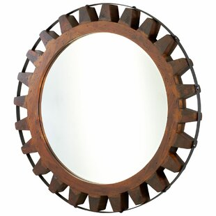 natural wood mirror full length landry mirror in raw iron and natural wood wayfair