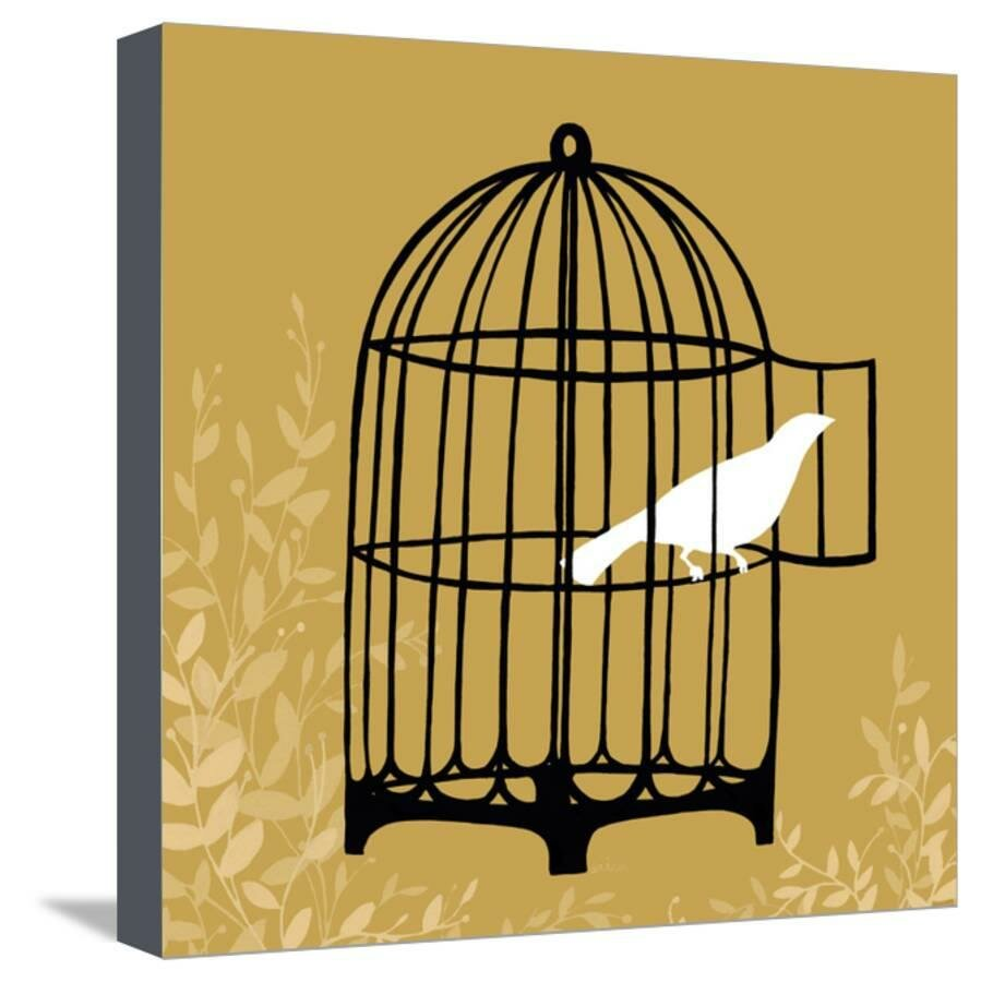 Room 365 \'Small Birdcage Silhouette II\' Graphic Art Print on Canvas ...