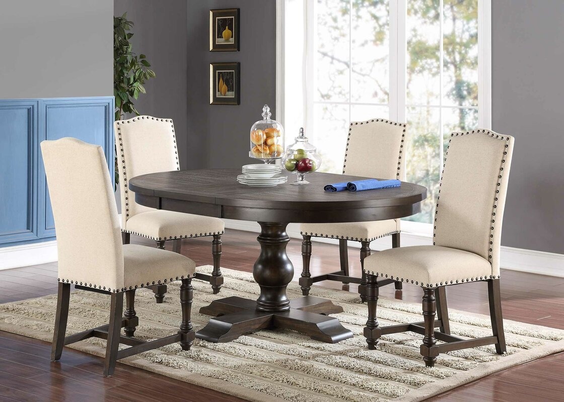 Extendable Dining Room Table Fortunat Extendable Dining Table & Reviews  Birch Lane