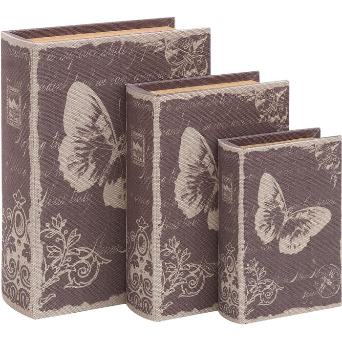 Cole grey idyll 3 piece decorative box set reviews for Decor containers coles