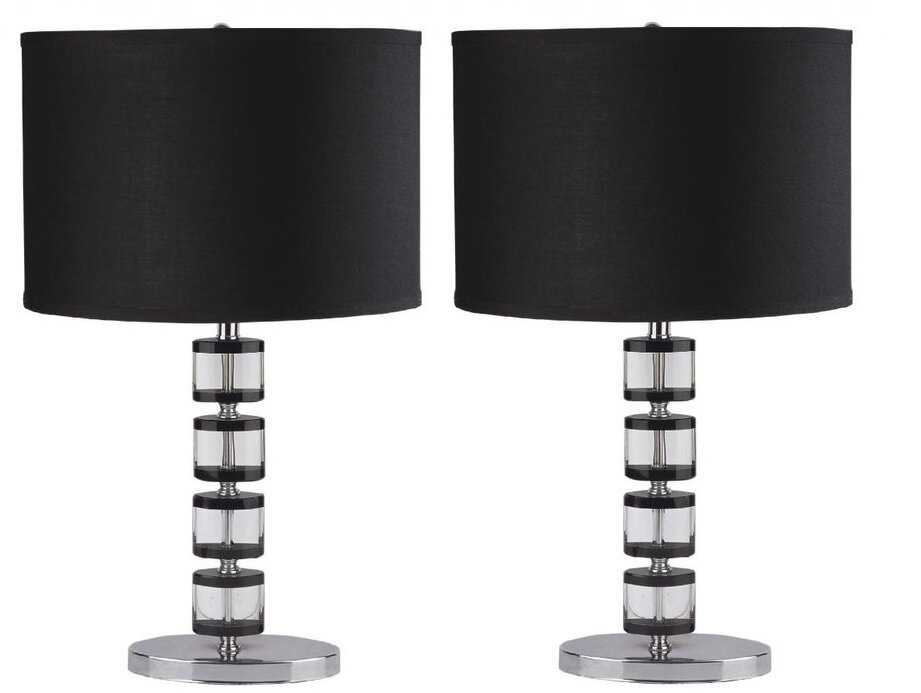 Orren Ellis Lakendra Oval Crystal 24 5 Table Lamp Wayfair