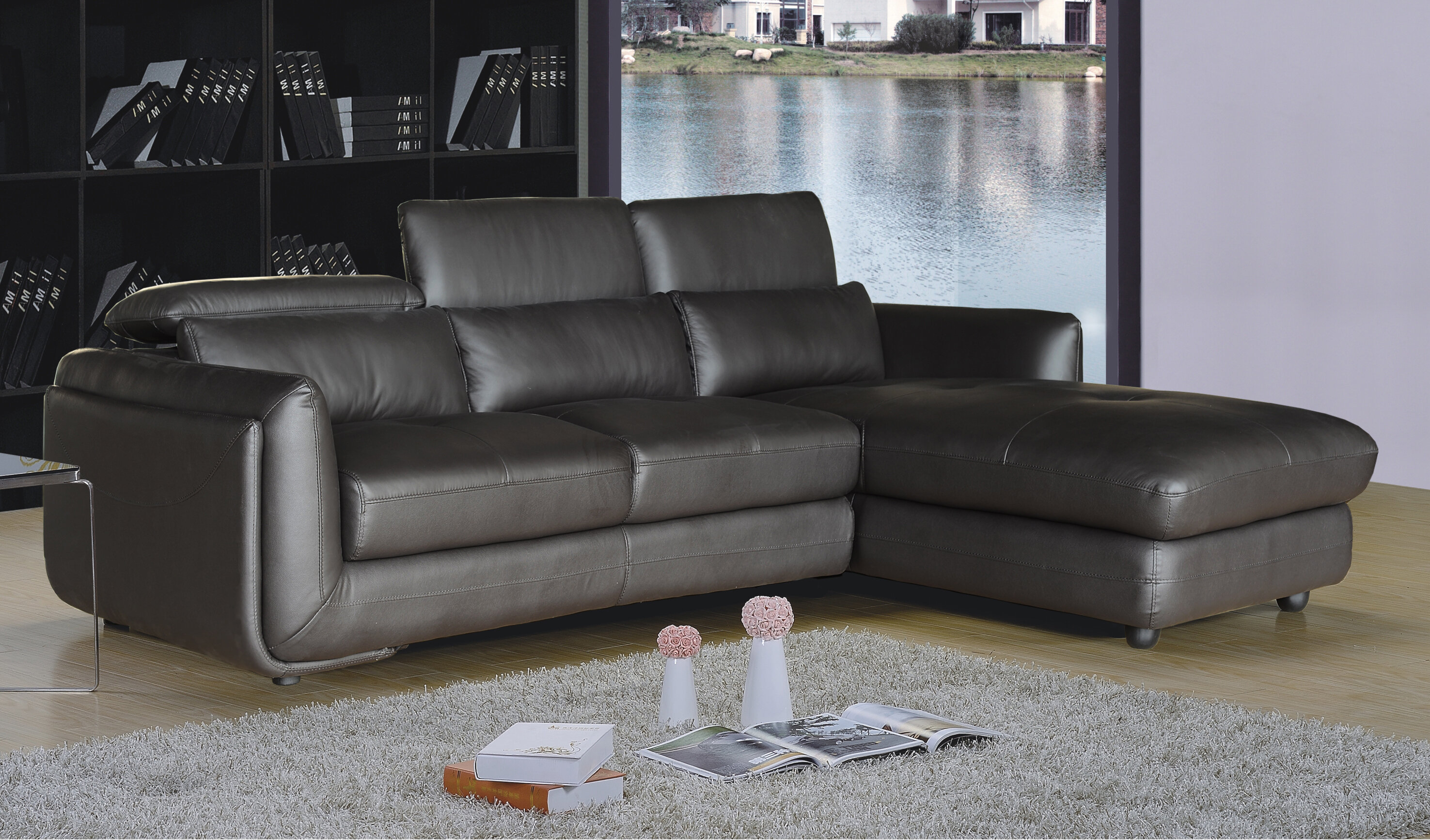 recliner chaise sofa with leather for and living comfortable room sectional modern