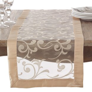 beige table runners you ll love wayfair ca