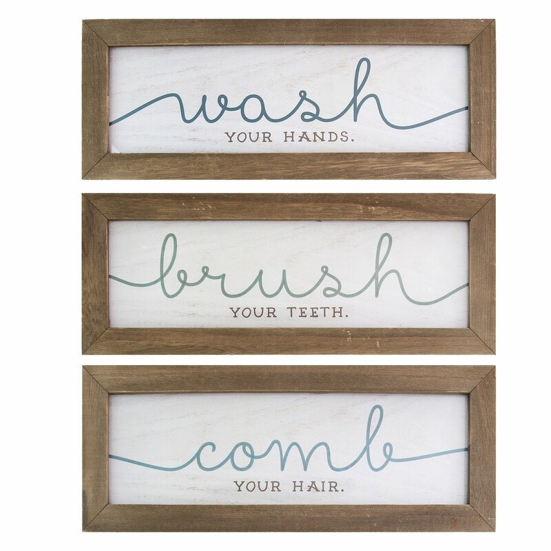 3 Piece Wash Brush Comb Wall Décor Set Reviews Joss Main