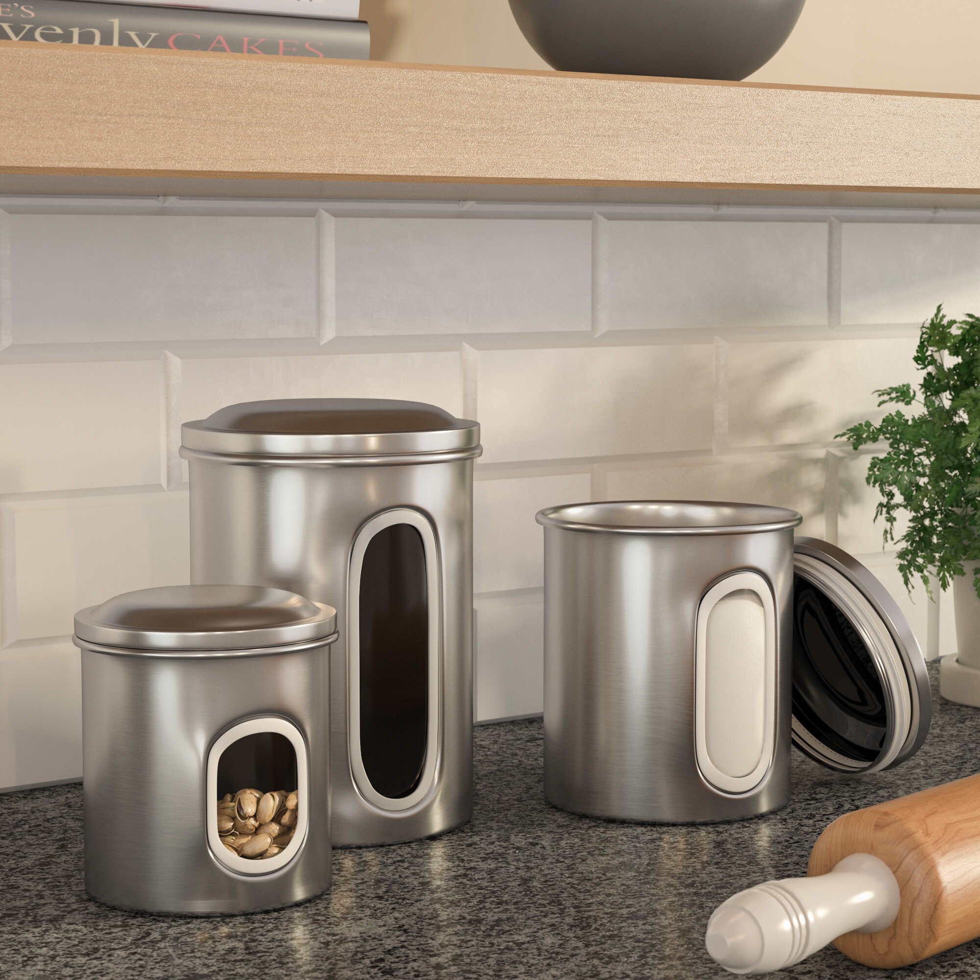 Grey Canister Set Wayfair