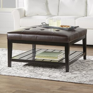dunlap leather ottoman
