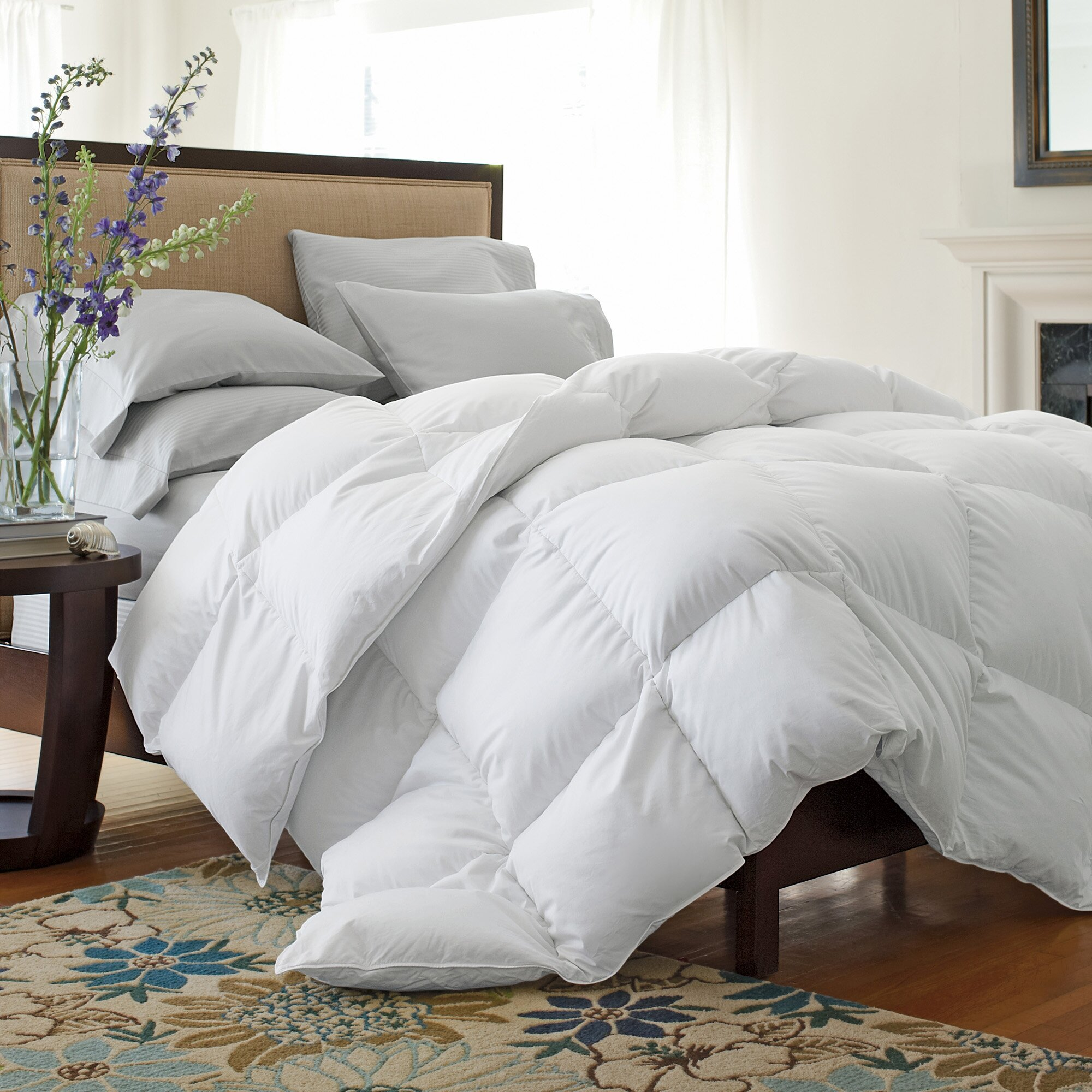 goose product bedding white bath shipping overstock free fill today colored eddie down power bauer comforter king
