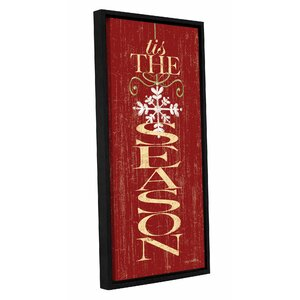 Tis the Season Framed Textual Art on Wrapped Canvas