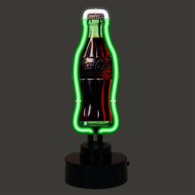 Coca-Cola Vintage Bottle Neon Sculpture