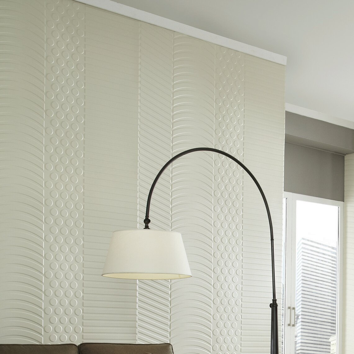 Ripple Horizontal Almond Decorative Wall Panel 4 X 8 Panel Fast And