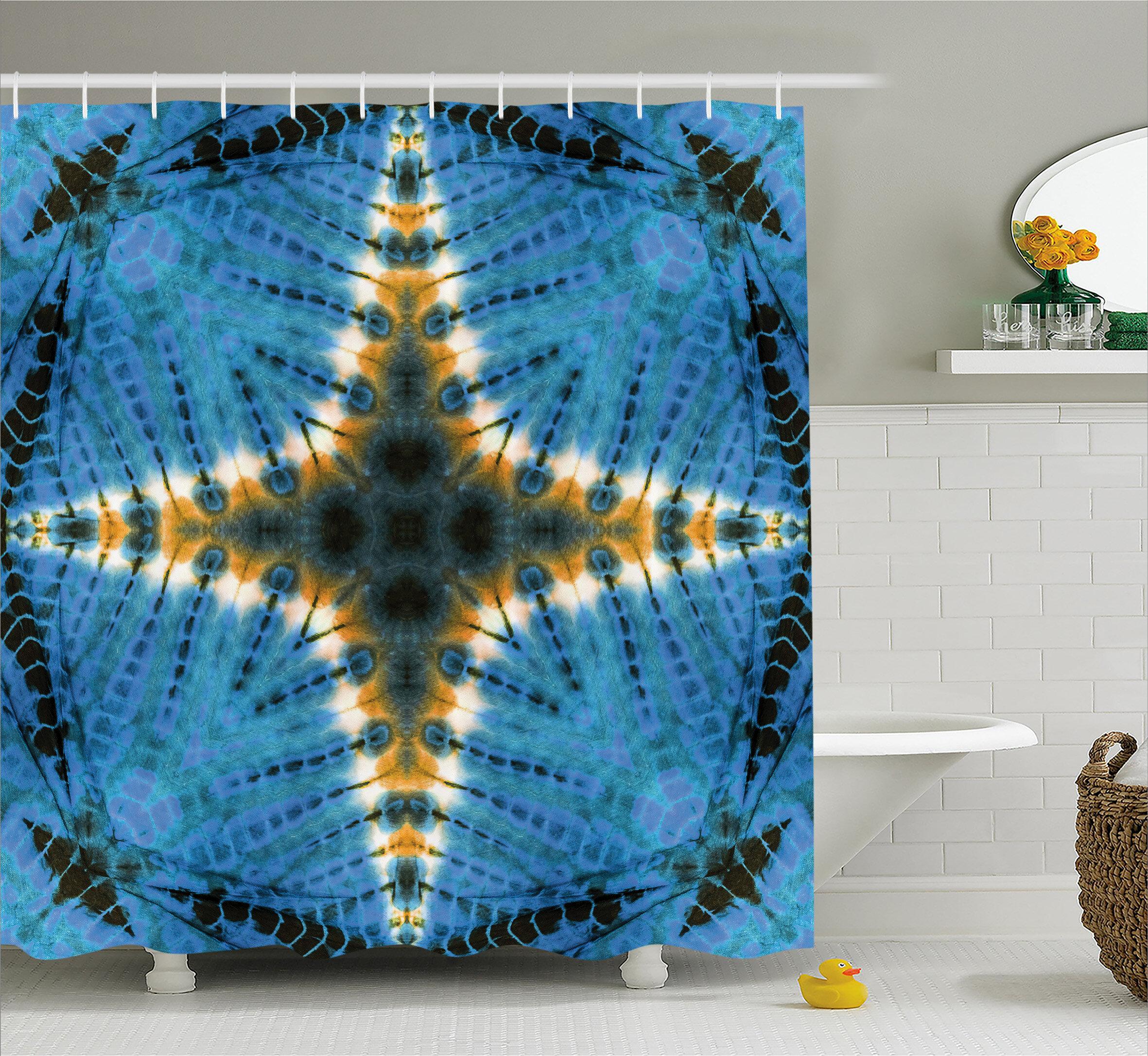 World Menagerie Aucheys Tie Dye Star Figure Shower Curtain