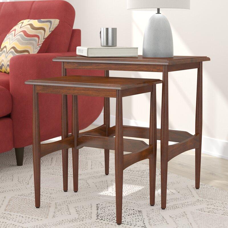 Cavitt Mid Century Modern 2 Piece Nesting Tables