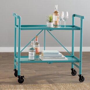 retro bar cart rustic quickview bar carts youll love wayfair