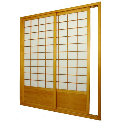 Oriental Furniture 83 x 735 Double Sided Sliding Door Room