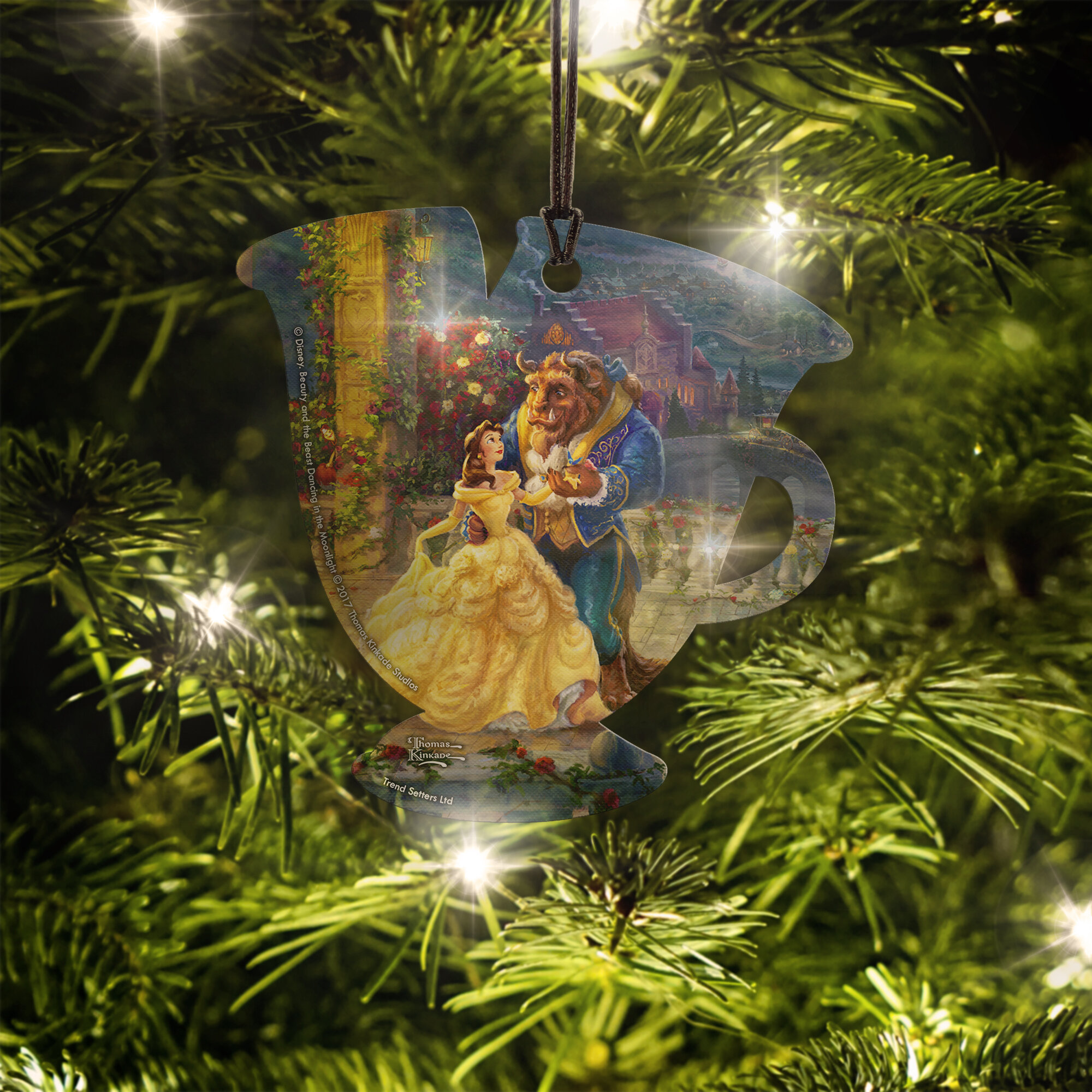 trend setters disney beauty and the beast chip hanging teacup shaped ornament wayfair