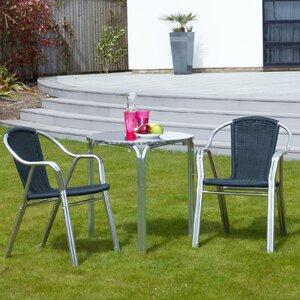 2-Sitzer Loungemöbel-Set Cappuccino aus Rattan und Aluminium von Home Loft Concept