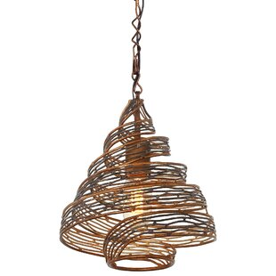 Hammered copper pendant light wayfair save to idea board hammered ore aloadofball Images