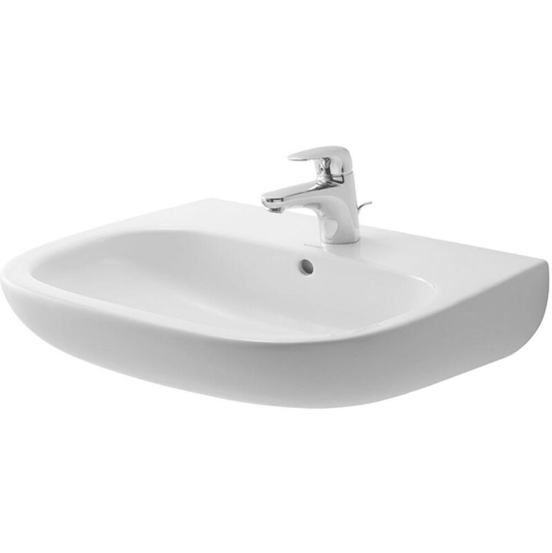 "Bathroom Sinks That Mount On The Wall duravit d-code 22"" wall mount bathroom sink with overflow"