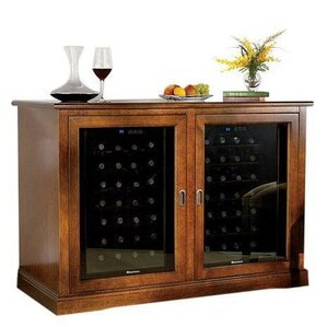 56 Bottle Siena Dual Zone Freestanding Wine Cooler by Wine Enthusiast