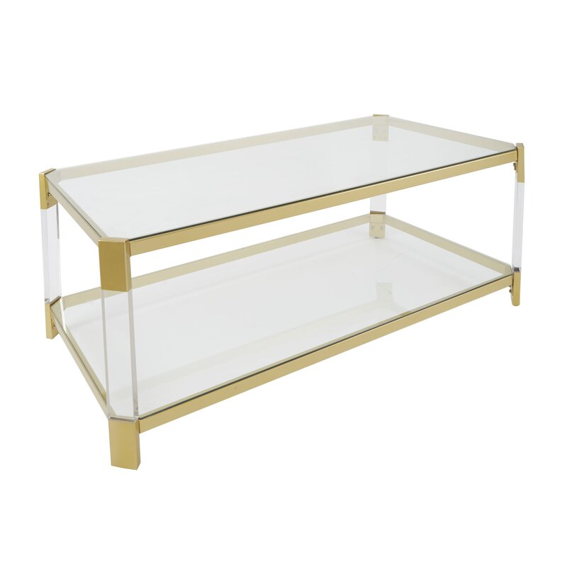 Exceptionnel Hythe Clear Glass Coffee Table