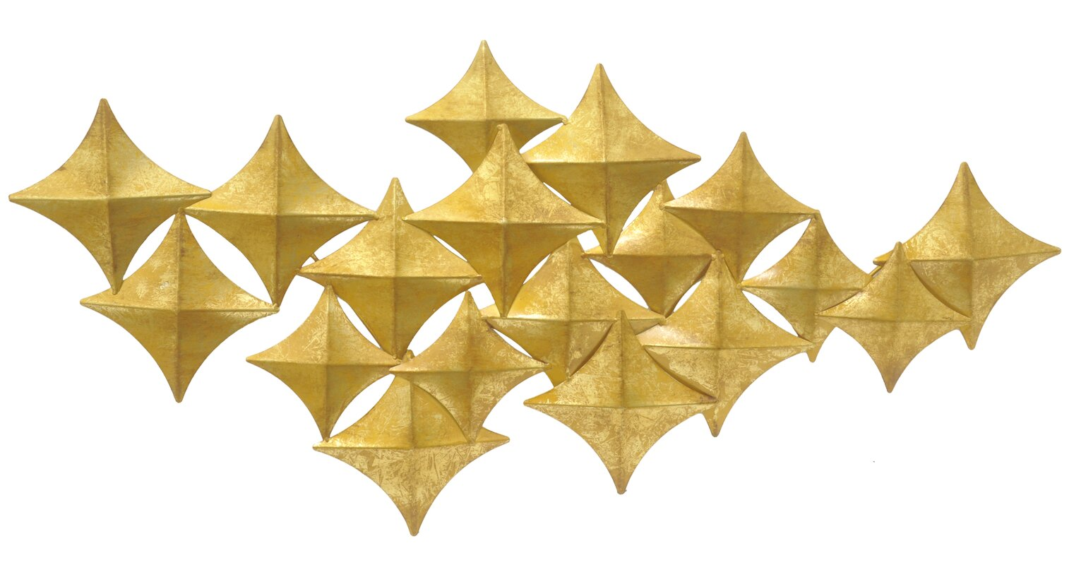Three Hands Co. Diamond Metal Wall Décor & Reviews | Wayfair