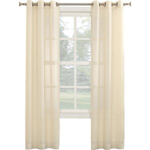 Linda Solid Sheer Grommet Single Curtain Panel