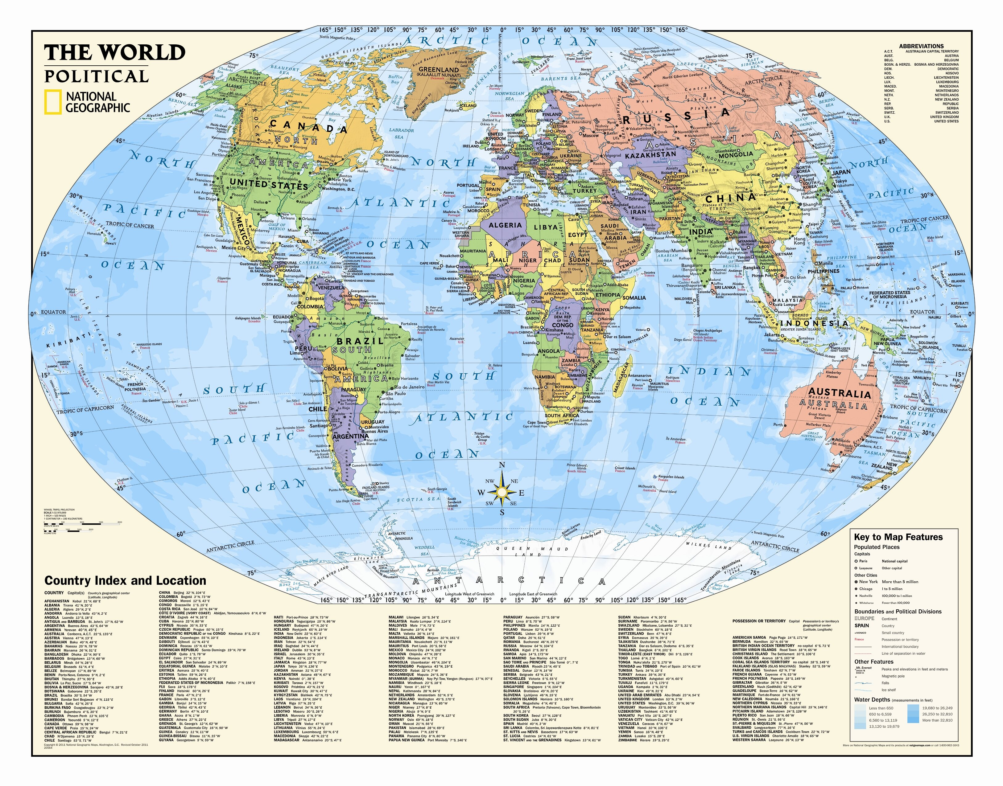 National Geographic Maps Kids Political World Wall Map Grades 4 12