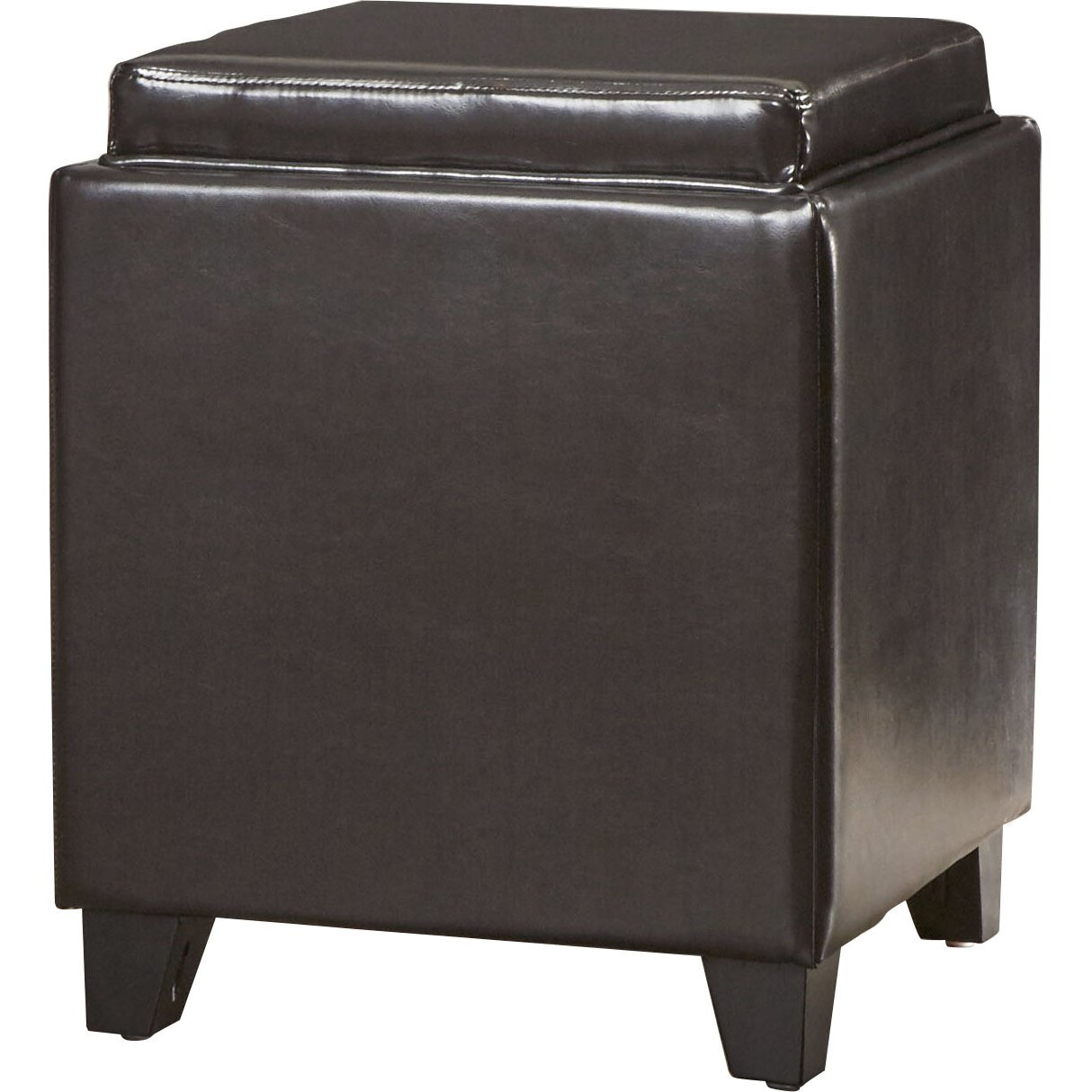 carroll storage ottoman with tray reviews allmodern. Black Bedroom Furniture Sets. Home Design Ideas